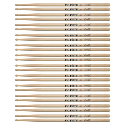 Vic Firth American Concept Freestyle 55A Wood Tip Drum Sticks (12 Pair Bundle)