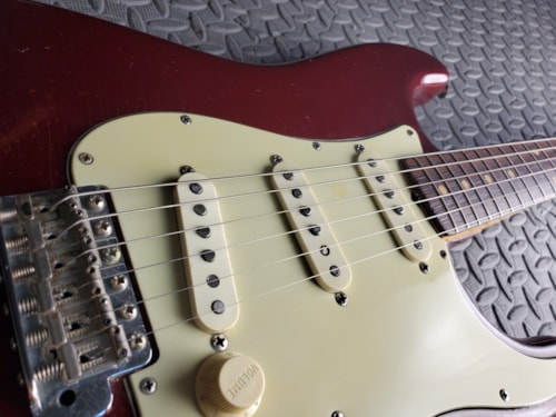 COLLECTOR VINTAGE 1961 FENDER STRATOCASTER RED SPARKLE CANDY APPLE RED CUSTOM ORDER / PROTOTYPE 100%