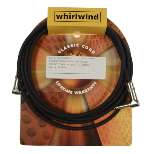 Whirlwind Classic 10' Instrument Cable Angle-Angle