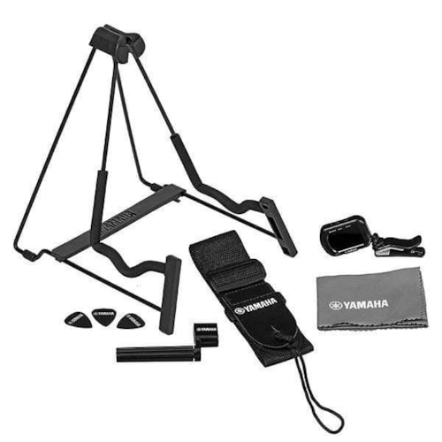 Yamaha AxPak Guitar Accessory Pack with Stand, Tuner, Cloth, Strap, Winder, and Picks