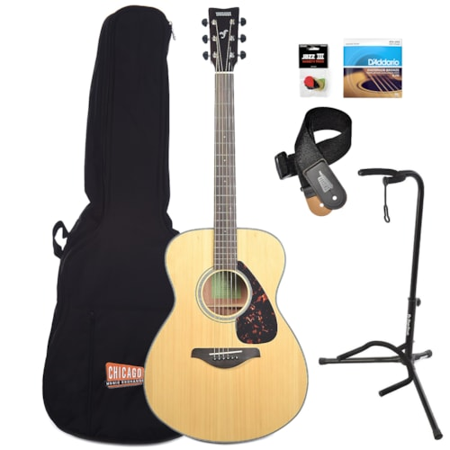 Yamaha FS800 Concert Acoustic Natural Essentials Bundle